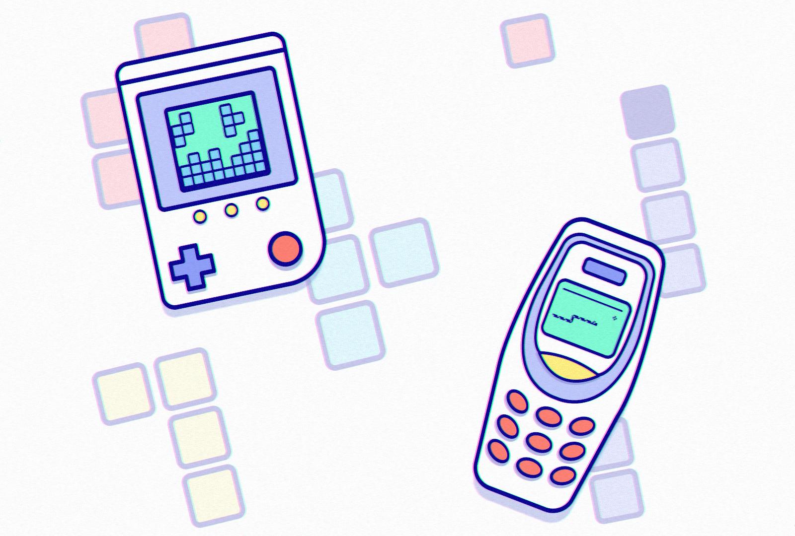 История мобильных игр. Первые мобильные игры: Тетрис и Змейка.
