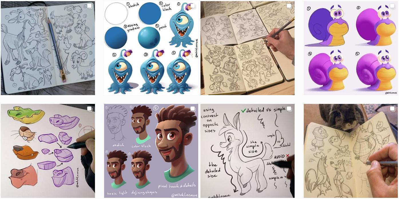 13 вдохновляющих профилей для художников и иллюстраторов